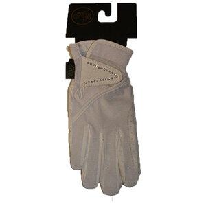 1729 HB lederen handschoen met strass steentjes