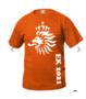 Oranje-t-shirt--met-bedrukking-naar-keuze